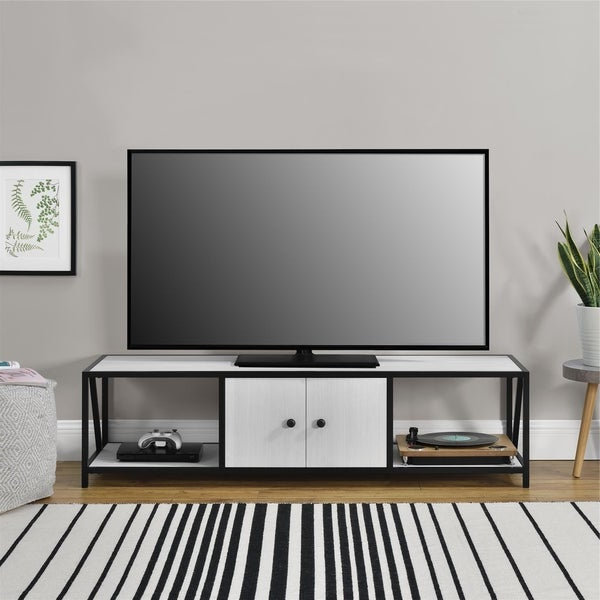 """Novogratz Weston Ivory Pine Tv Stand For Tvs Up To 60 Inch Inside Famous Kasen Tv Stands For Tvs Up To 60"""" (View 9 of 25)"""