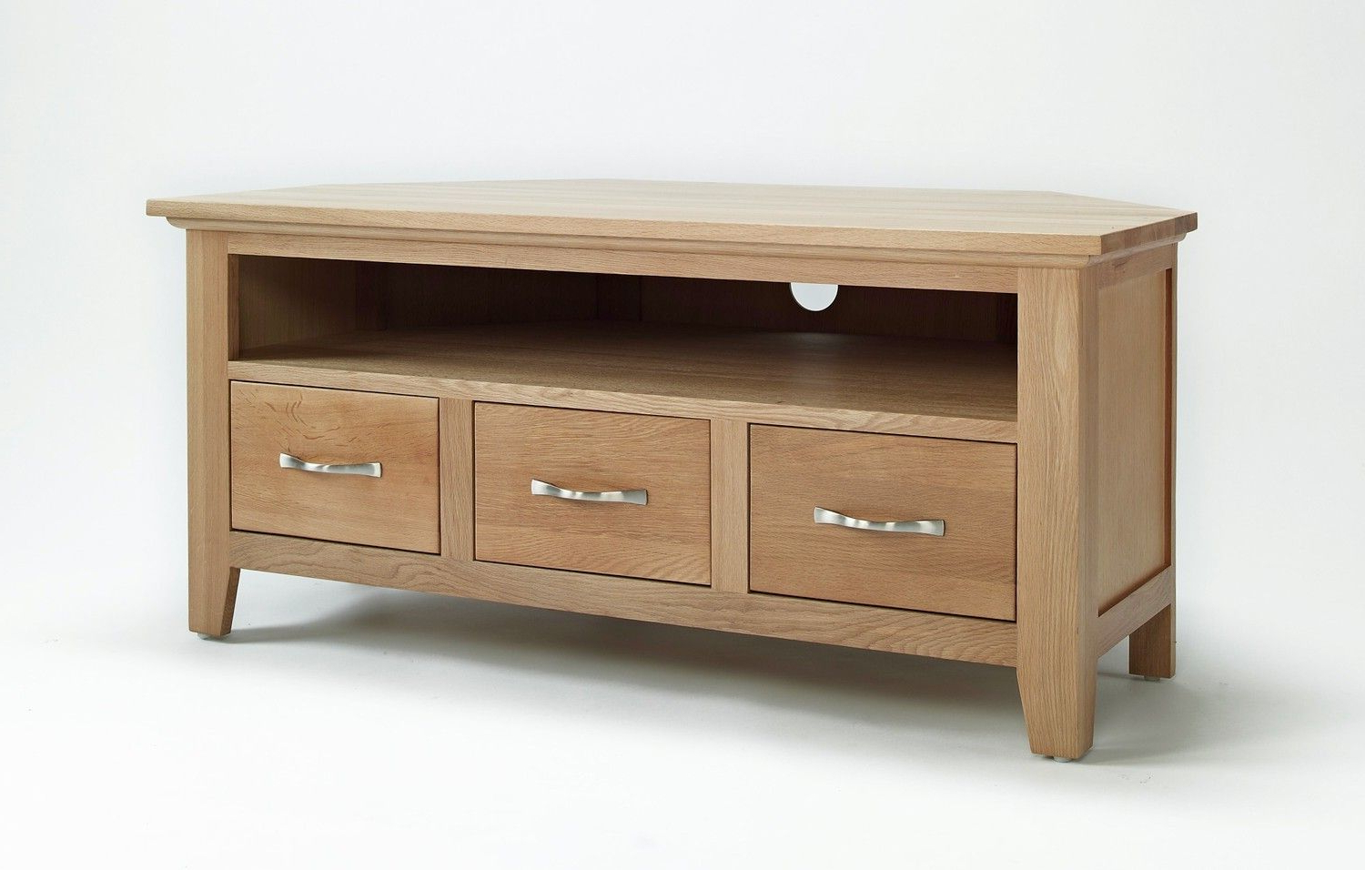 Oak Corner Tv Stand Intended For Well Known Oakville Corner Tv Stands (View 3 of 10)