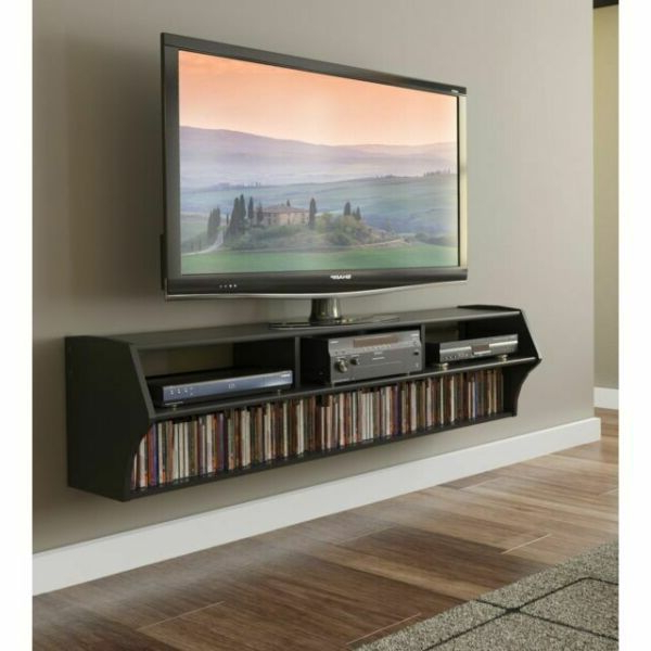 """Oak Large Floating Entertainment Center 200 Led Tv Stand Within Most Recent Milano 200 Wall Mounted Floating Led 79"""" Tv Stands (View 1 of 10)"""