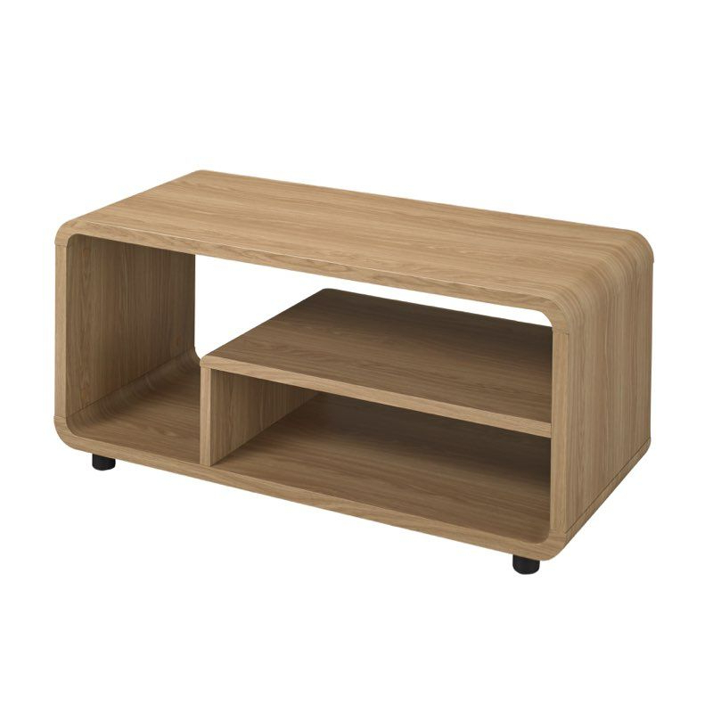 Oakville Corner Tv Stands For Most Recently Released Lpd Furniture Curve Tv Stand Oak Finish In  (View 5 of 10)