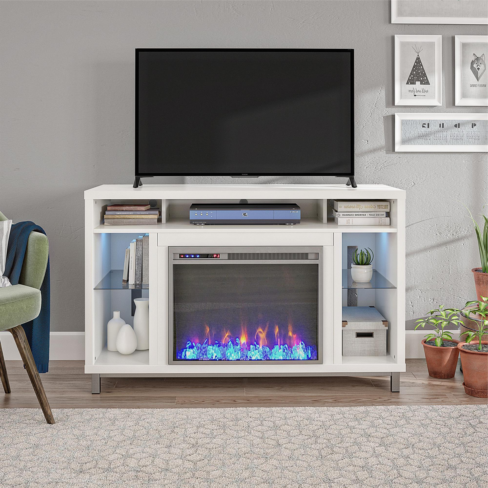 Oliver Wide Tv Stands With Well Known Ameriwood Home Lumina Fireplace Tv Stand For Tvs Up To  (View 10 of 10)