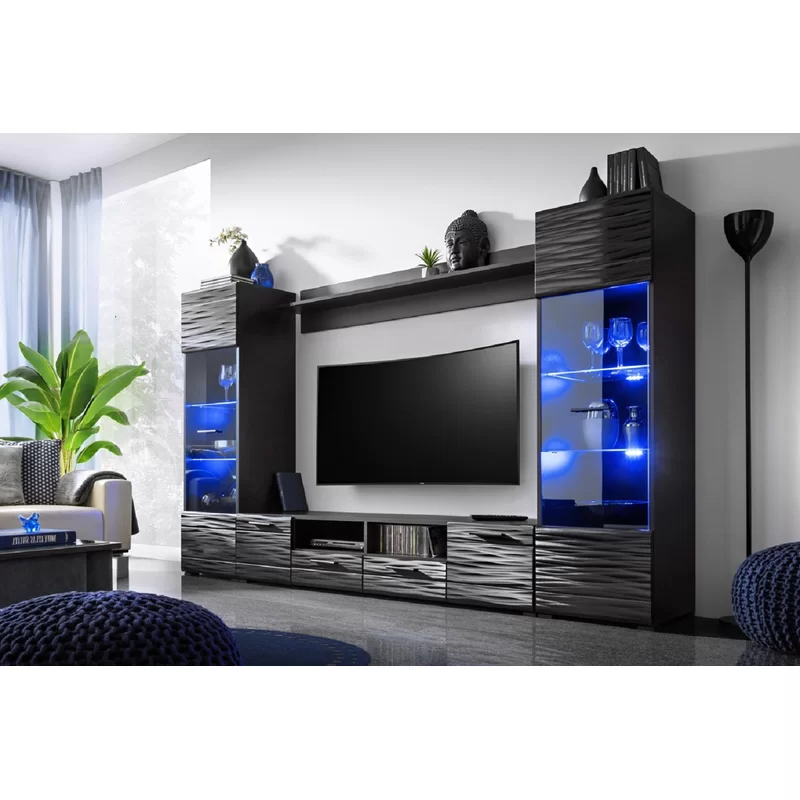 """Orren Ellis Priebe Modica Modern Entertainment Center For Within Latest Ezlynn Floating Tv Stands For Tvs Up To 75"""" (View 18 of 25)"""