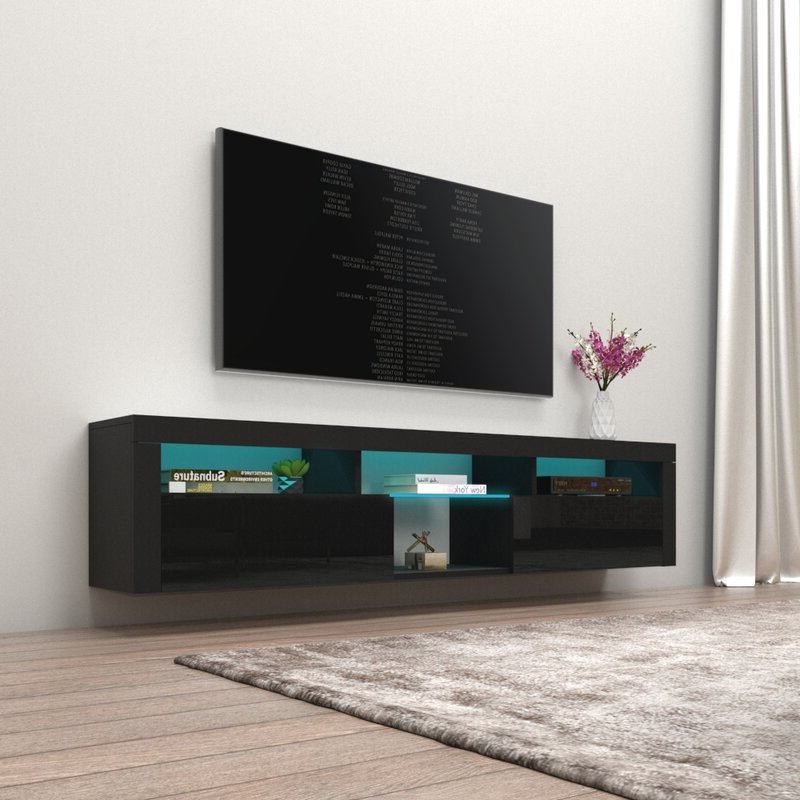 """Orren Ellis Sabacky Floating Tv Stand For Tvs Up To 88 In Favorite Ailiana Tv Stands For Tvs Up To 88"""" (View 17 of 25)"""