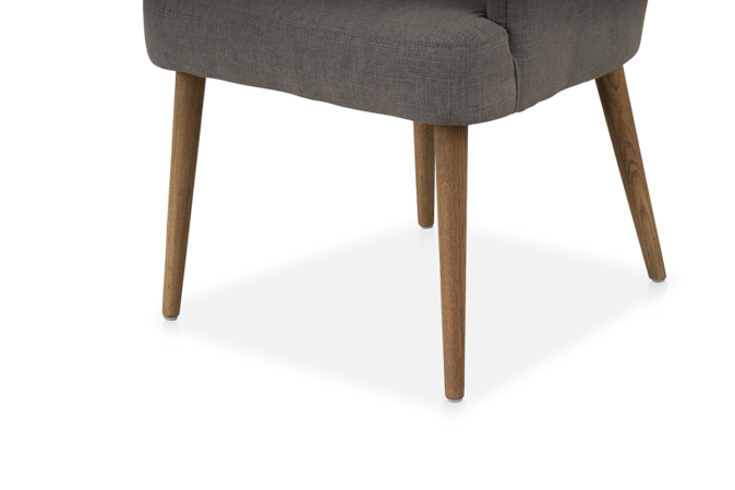 Orsen Tv Stands With Regard To Recent Orson Chair Grey Linen – Michael Murphy Home Furnishing (View 15 of 25)