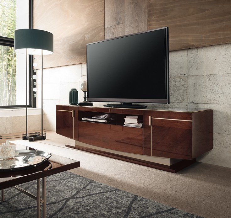 Osipis Contemporary Tv Stand For Most Current High Glass Modern Entertainment Tv Stands For Living Room Bedroom (View 7 of 10)