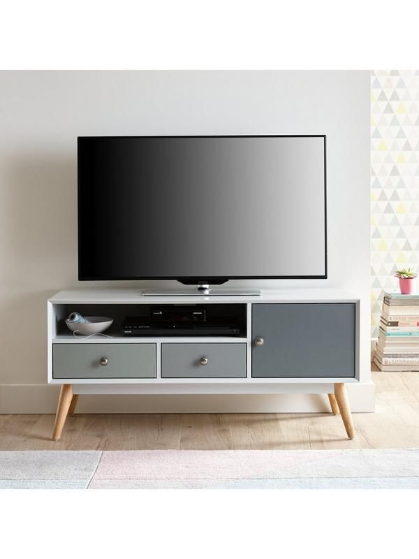 Owen Retro Tv Unit Stands Within Widely Used Orla Retro Tv Unit – Fits Up To 50 Inch Tv (View 16 of 25)