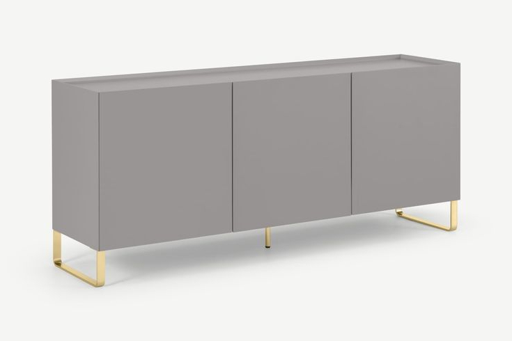 Painted Intended For Fashionable Hanna Oyster Corner Tv Stands (View 8 of 9)