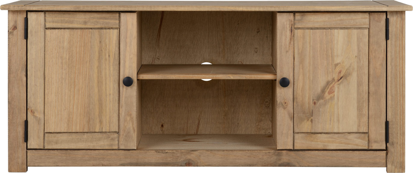 Panama 2 Door 1 Shelf Flat Screen Tv Unit – Natural Wax Pertaining To Widely Used Panama Tv Stands (View 25 of 25)