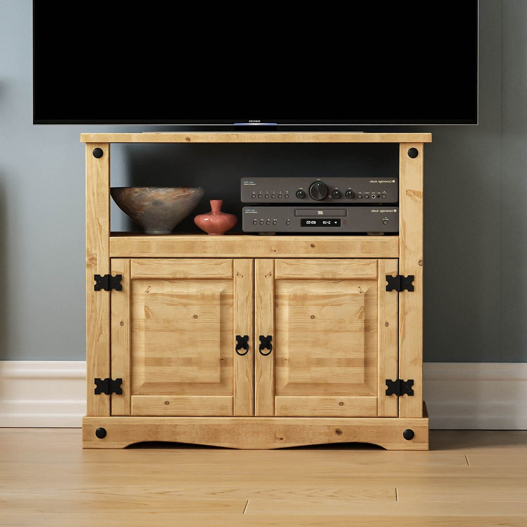 Panama Tv Stands With Regard To Most Popular Corona Panama Tv Cabinet Media Dvd Unit Solid Pine Wood (View 3 of 25)