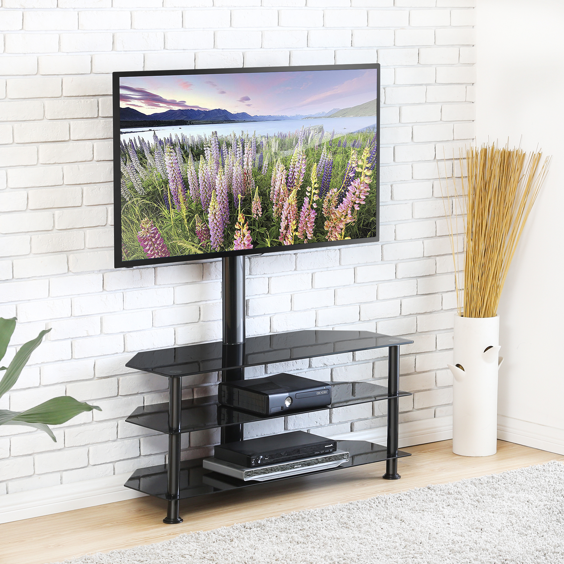 """Paulina Tv Stands For Tvs Up To 32"""" For Favorite Fitueyes Swivel Tv Stand With Height Adjustable Mount 3 In (View 13 of 25)"""