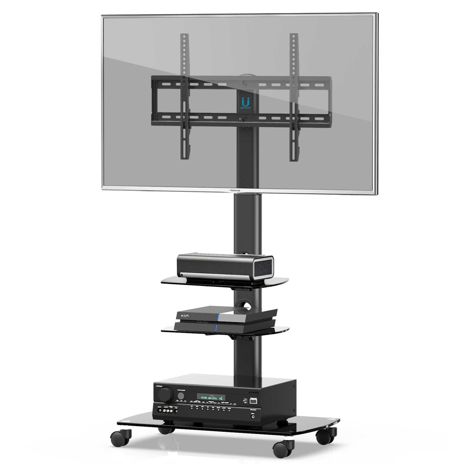 """Paulina Tv Stands For Tvs Up To 32"""" For Preferred Fitueyes Mobile Tv Stand/cart With Wheels Swivel Mount And (View 1 of 25)"""