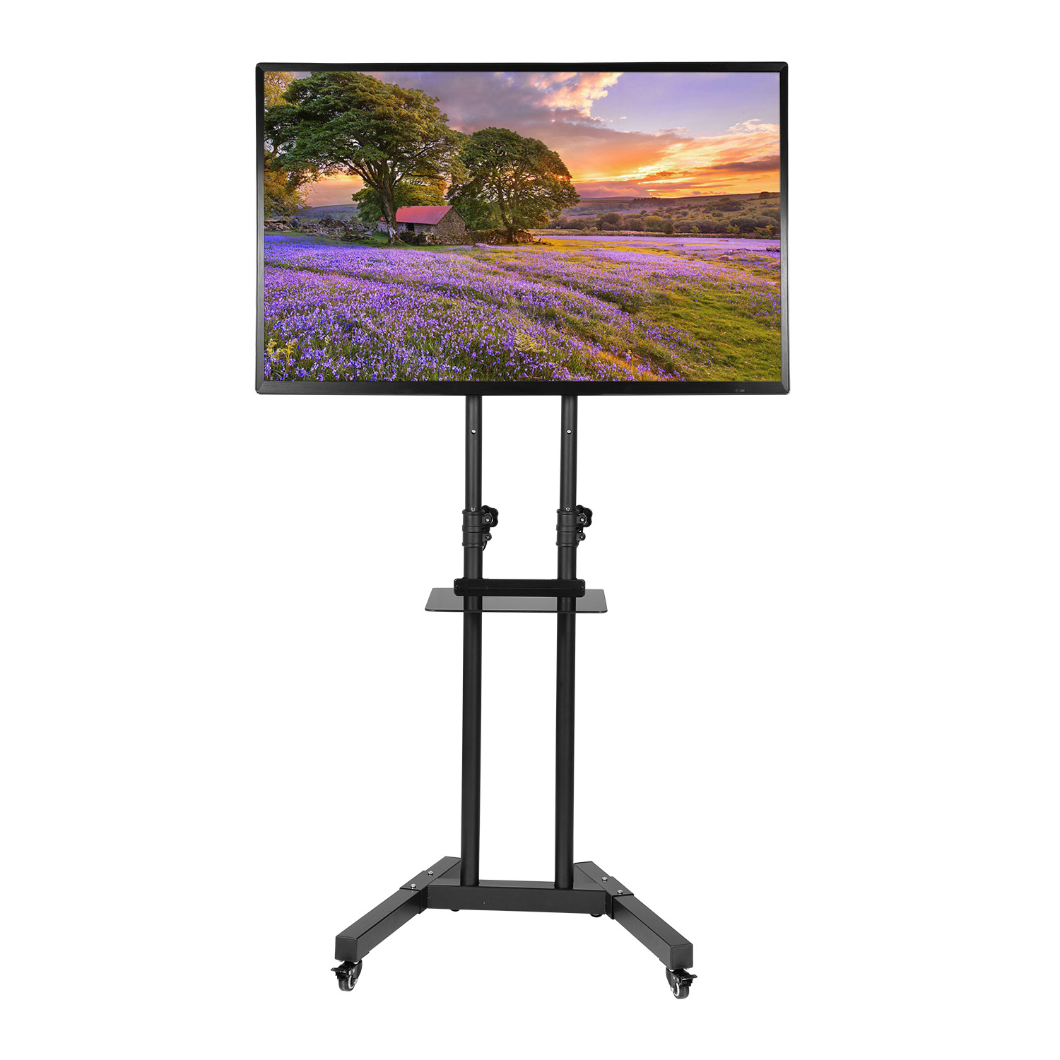 """Paulina Tv Stands For Tvs Up To 32"""" Inside Well Known Universal 32 65 Inch Rolling Mobile Tv Stand Flat Screen (View 5 of 25)"""
