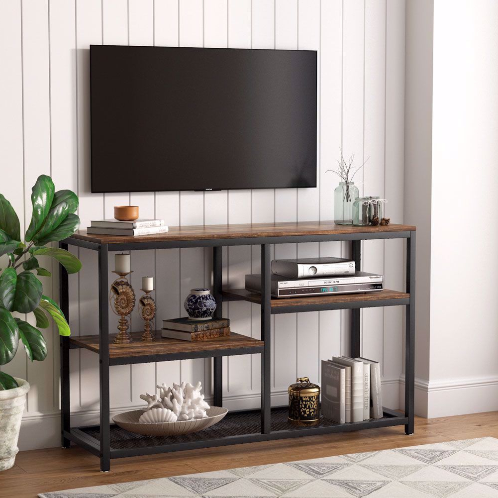 Petter Tv Media Stands In Most Up To Date Tribesigns Tv Stand, Vintage Industrial Media Stand With (View 6 of 10)