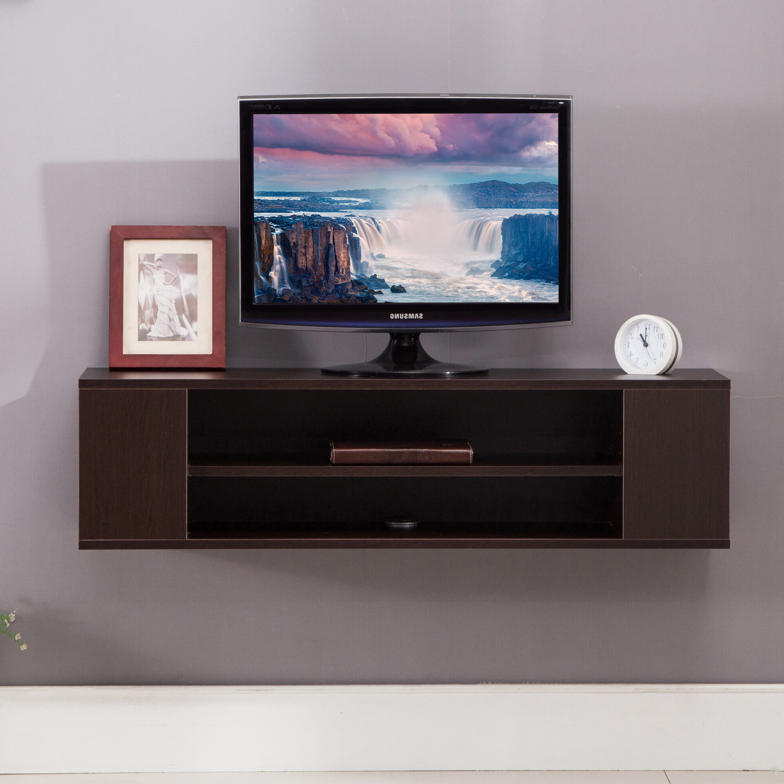 Petter Tv Media Stands Regarding 2017 Tv Stand Mecor Floating Shelves Wall Mount Media Console (View 5 of 10)