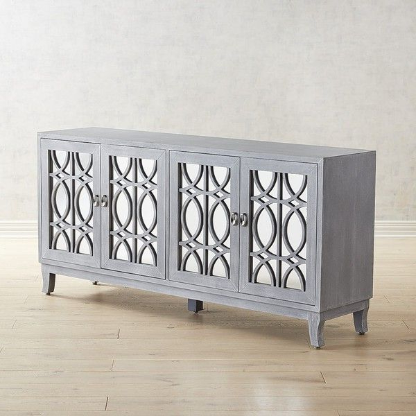 """Pier 1 Imports Mirella 72"""" Mirrored Tv Stand ($900) Liked Throughout Well Liked Fitzgerald Mirrored Tv Stands (View 15 of 25)"""