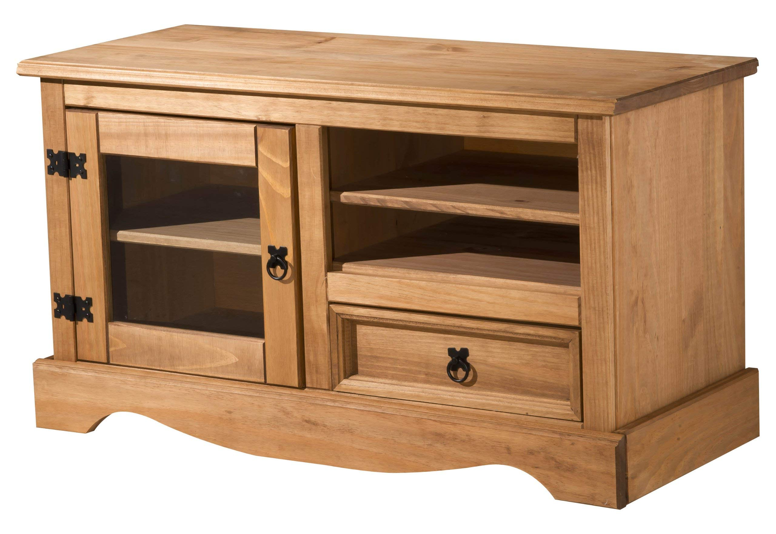 Pine Corner Tv Unit, Stand Or Cabinet, 750mm With Intended For Newest Corona Grey Corner Tv Stands (View 1 of 10)