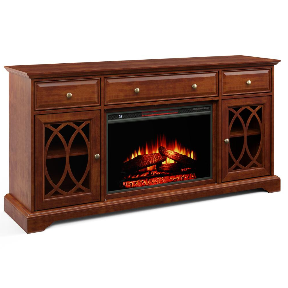 """Popular 60'' Segmented Tv Stand With Electric Fireplace – Walmart Regarding Hal Tv Stands For Tvs Up To 60"""" (View 11 of 25)"""