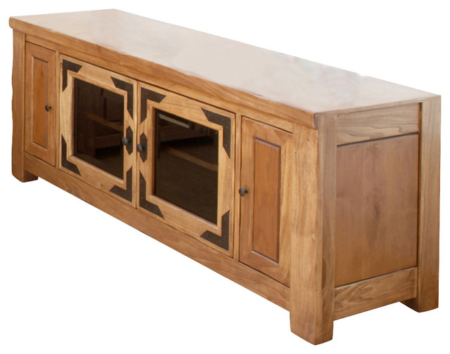 Popular Artisan Home Lodge 100 60 Inch Wide Tv Stand With Media In Indi Wide Tv Stands (View 17 of 25)
