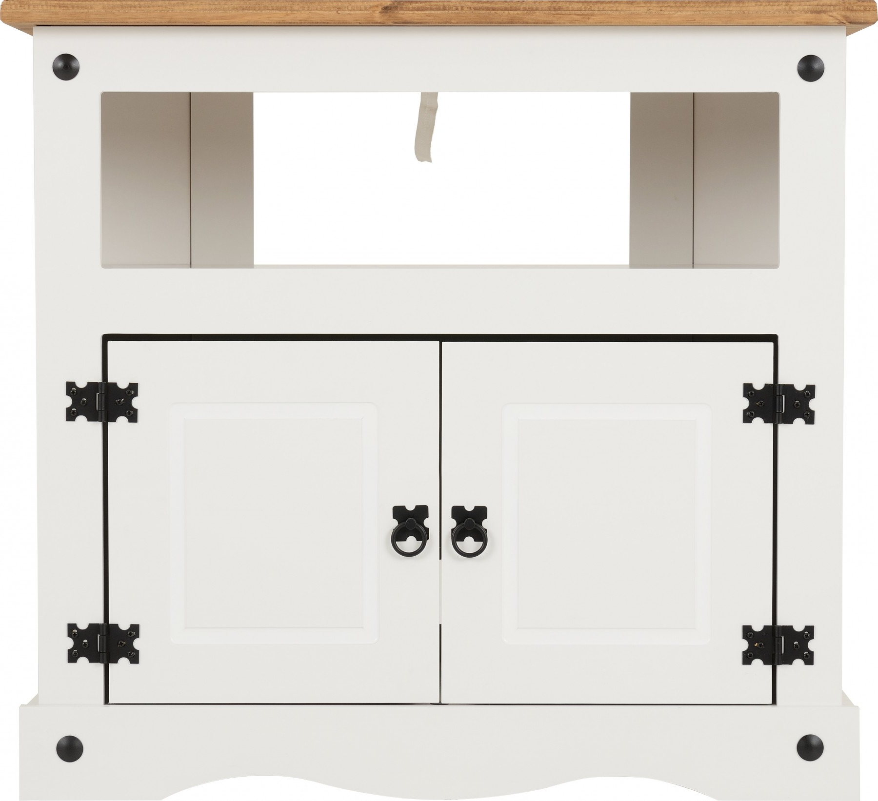 Popular Corona Corner Tv Cabinet In White/distressed Waxed Pine Throughout Corona White Corner Tv Unit Stands (View 9 of 10)