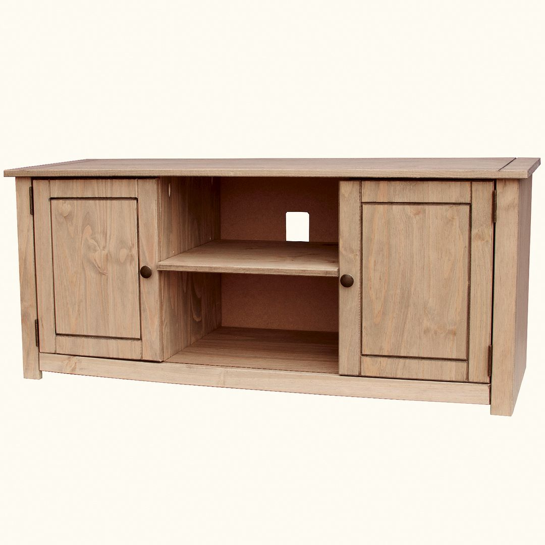 Popular Corona Panama Tv Cabinet Media Dvd Unit Solid Pine Wood With Regard To Panama Tv Stands (View 7 of 25)