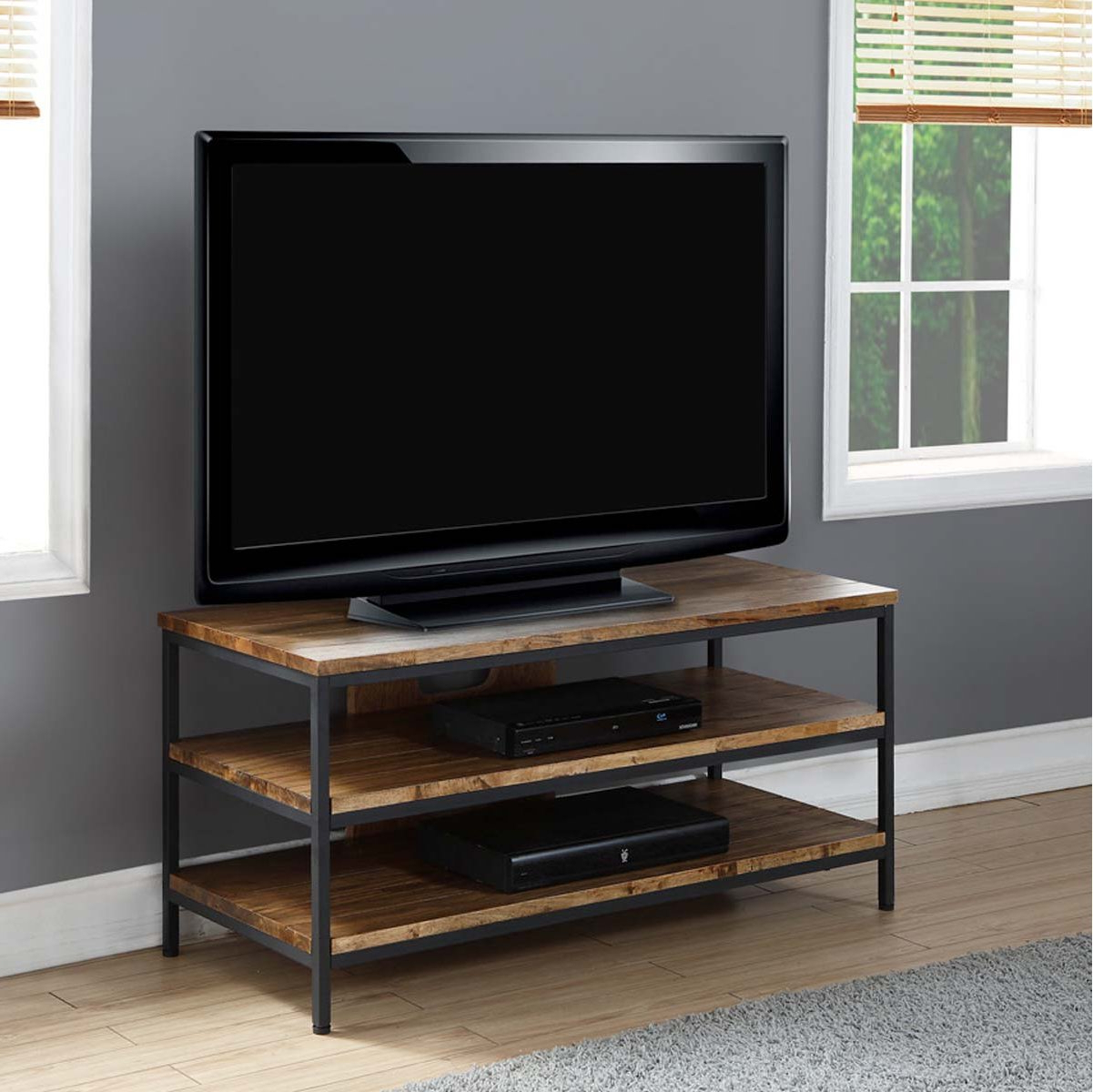 Popular Dillon Tv Stands Oak Intended For Solid Wood Oak Rustic Tv Stand (View 4 of 10)