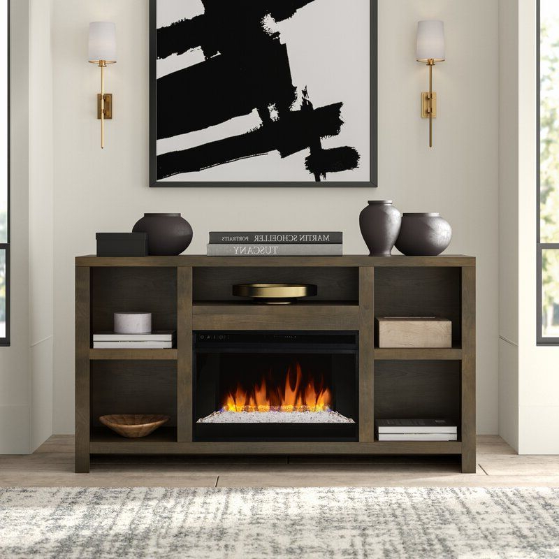 """Popular Greyleigh Columbia Tv Stand For Tvs Up To 65"""" With Regarding Rickard Tv Stands For Tvs Up To 65"""" With Fireplace Included (View 8 of 25)"""