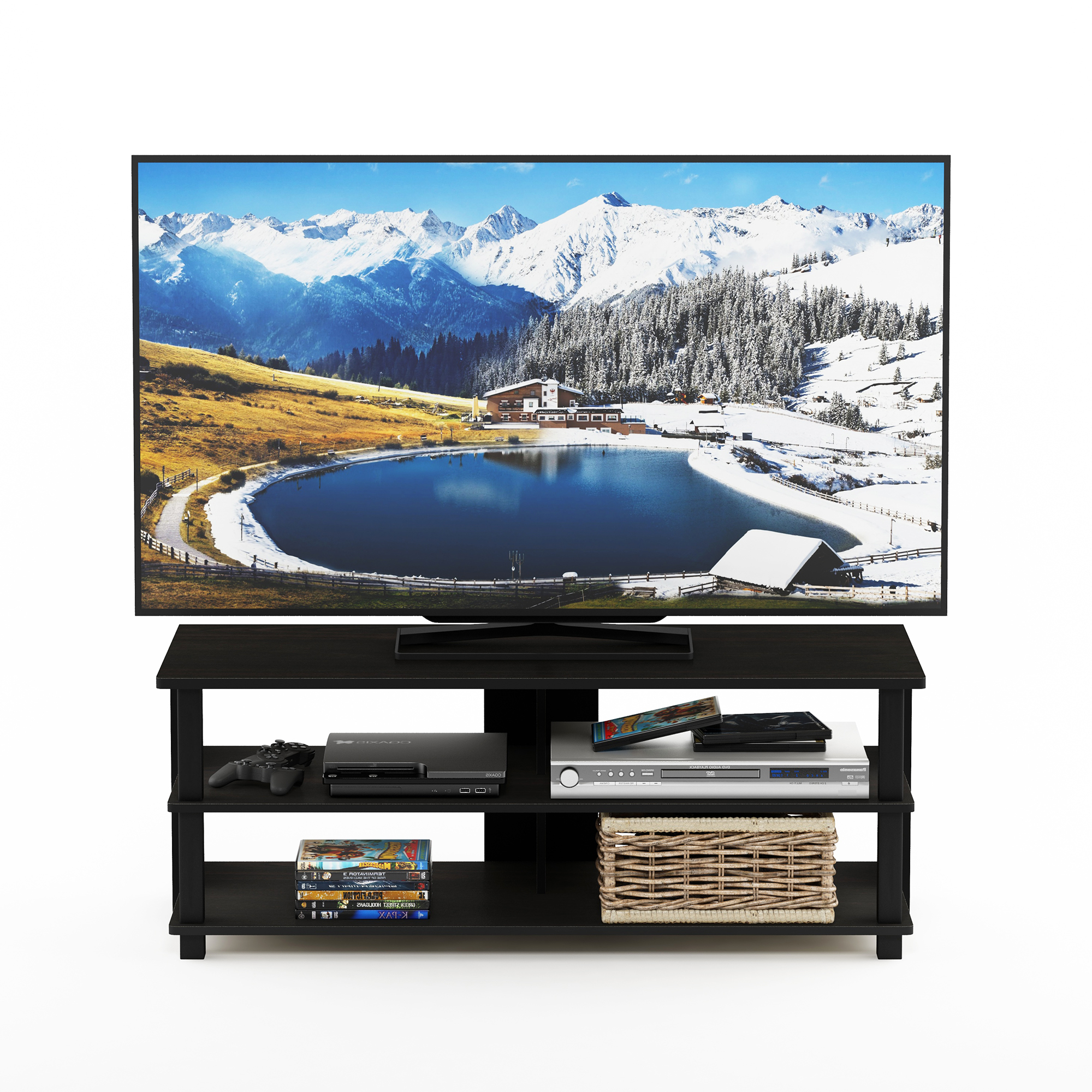"""Popular Lansing Tv Stands For Tvs Up To 50"""" With Furinno Sully 3 Tier Tv Stand For Tv Up To 50"""", Espresso (View 23 of 25)"""