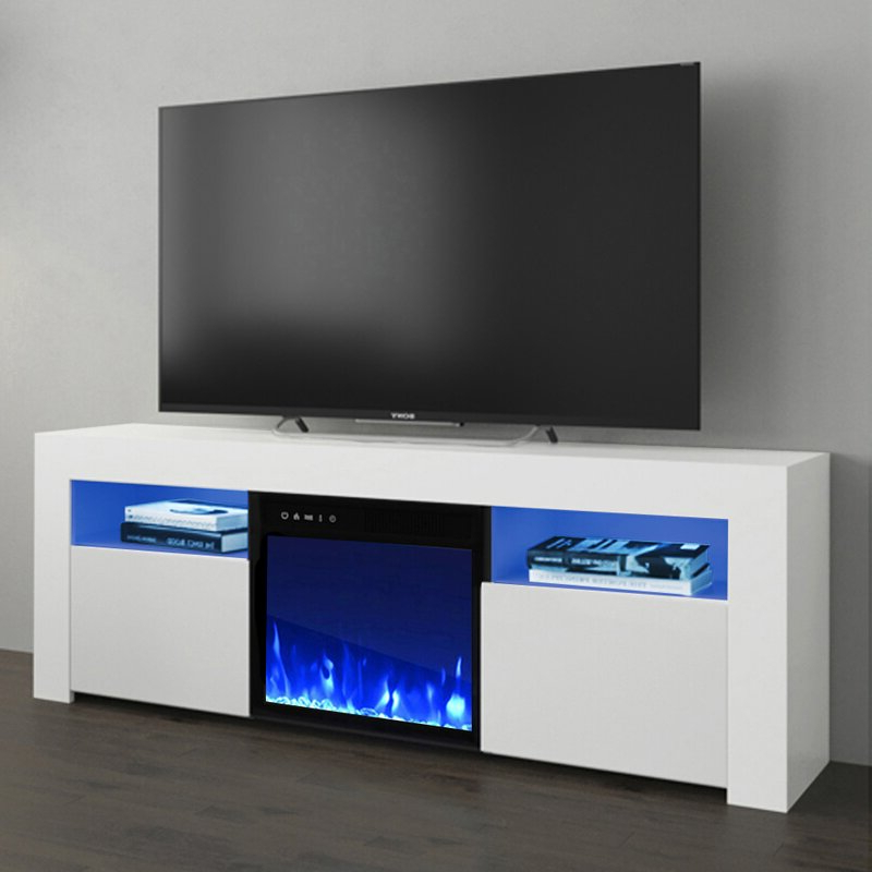 """Popular Orren Ellis Earle Tv Stand For Tvs Up To 65"""" With Electric Intended For Neilsen Tv Stands For Tvs Up To 65"""" (View 14 of 25)"""
