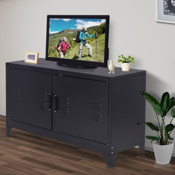 Popular Owen Retro Tv Unit Stands Intended For H4home Industrial Style Tv Stand Unit Vintage Metal Media (View 21 of 25)
