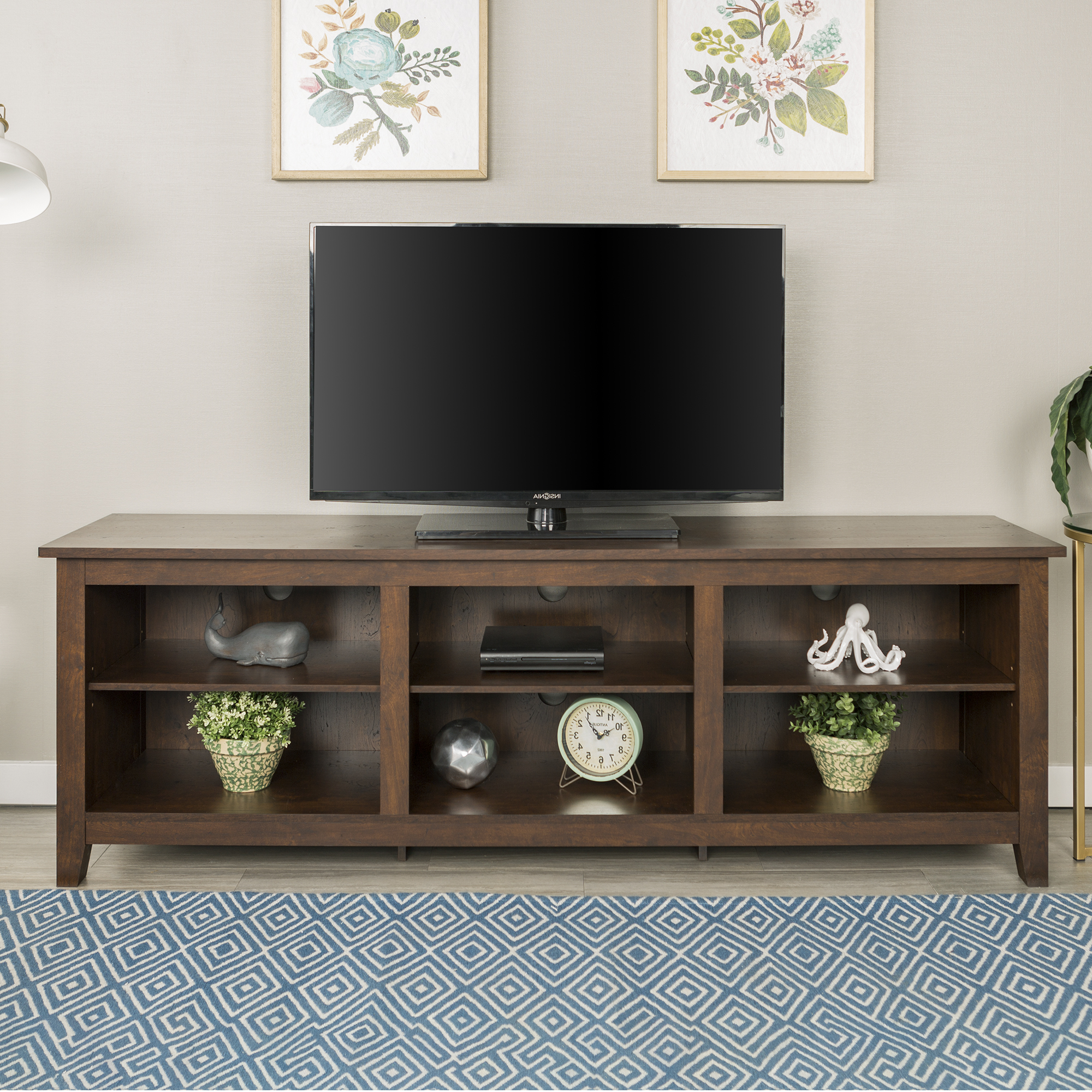 Popular Petter Tv Media Stands In Manor Park Wood Tv Media Storage Stand For Tvs Up To  (View 1 of 10)