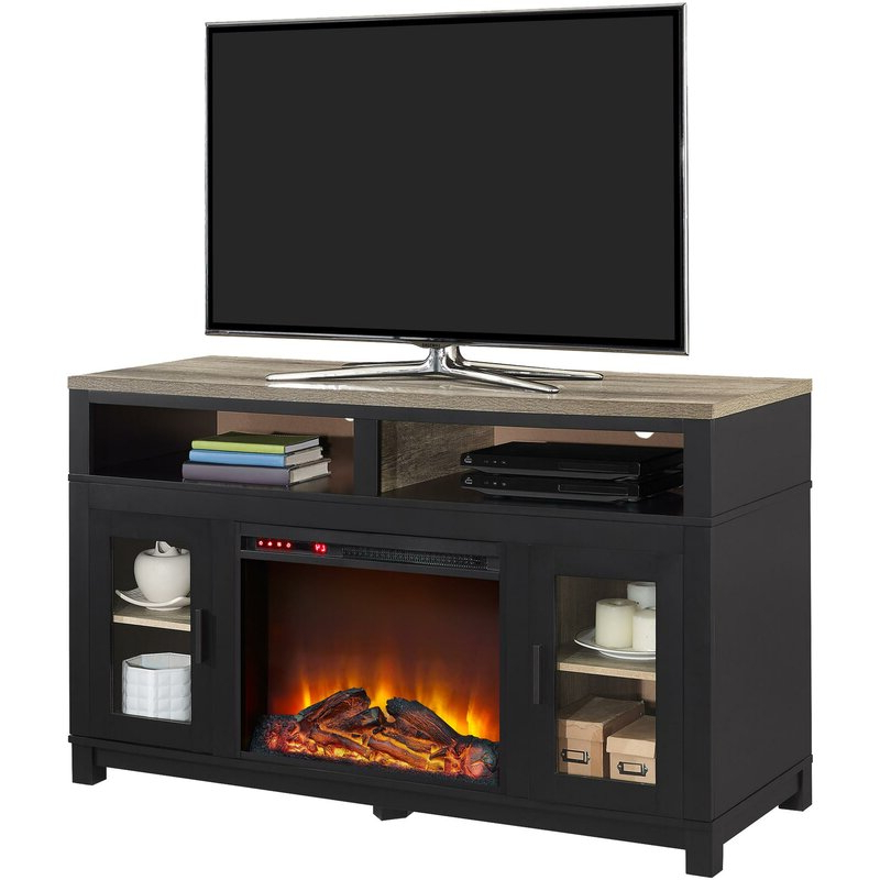 """Popular Zahara Tv Stand For Tvs Up To 60 Inches With Electric Inside Hetton Tv Stands For Tvs Up To 70"""" With Fireplace Included (View 17 of 25)"""