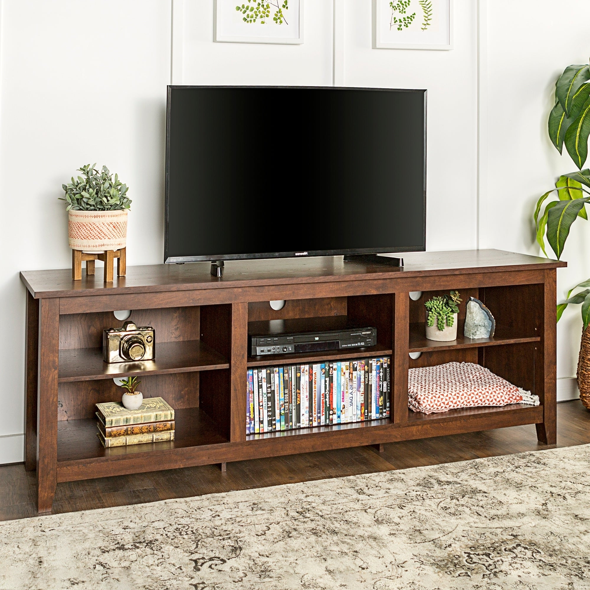 Porch & Den Dexter 70 Inch Wood Media Tv Stand – 70 X 16 X Regarding Well Known Petter Tv Media Stands (View 8 of 10)