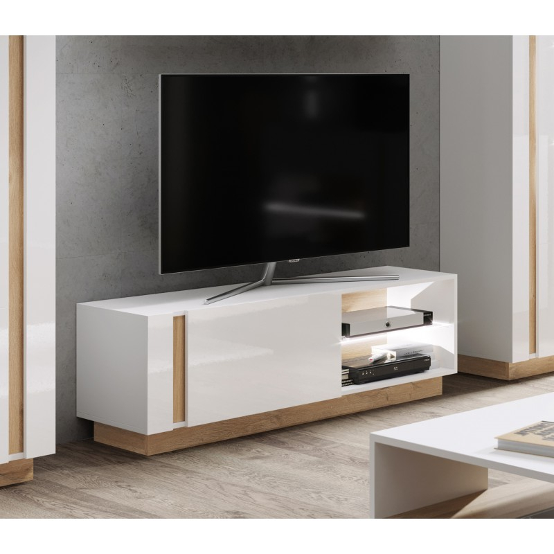 Preferred Bromley White Wide Tv Stands In Bmf Arco White 2 Living Room Tv Stand White High Gloss (View 4 of 10)
