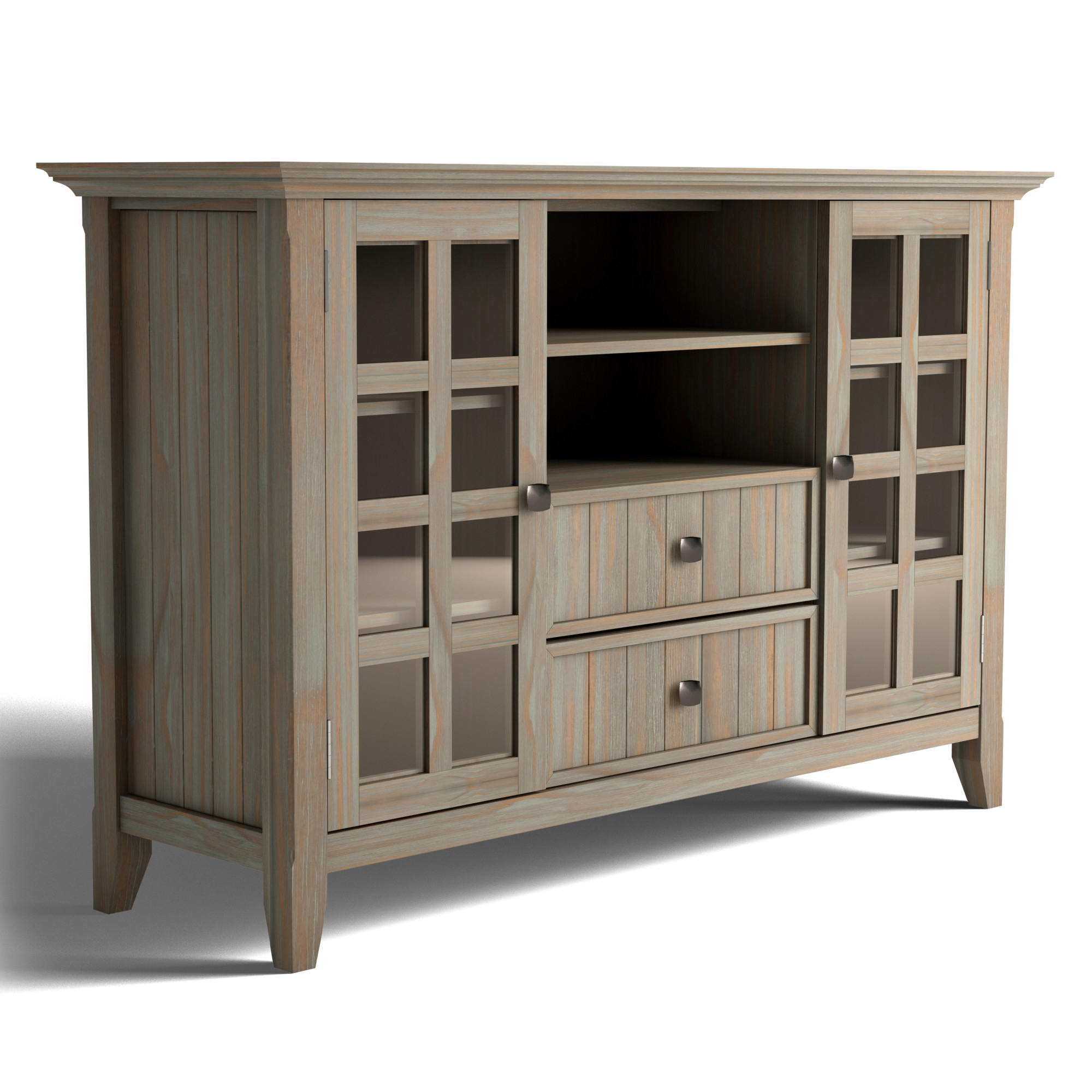 """Preferred Brooklyn + Max Brunswick Solid Wood 53 Inch Wide Rustic Tv Pertaining To Spellman Tv Stands For Tvs Up To 55"""" (View 14 of 25)"""