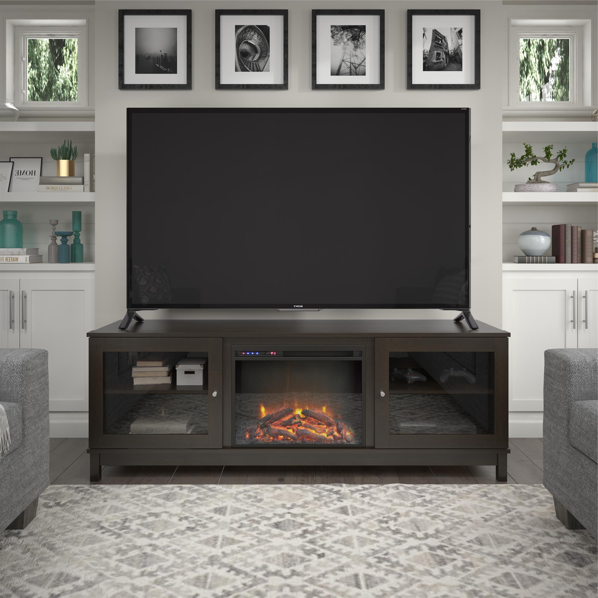 """Preferred Broward Tv Stands For Tvs Up To 70"""" With Ameriwood Home Swanson Fireplace Tv Stand For Tvs Up To  (View 7 of 25)"""