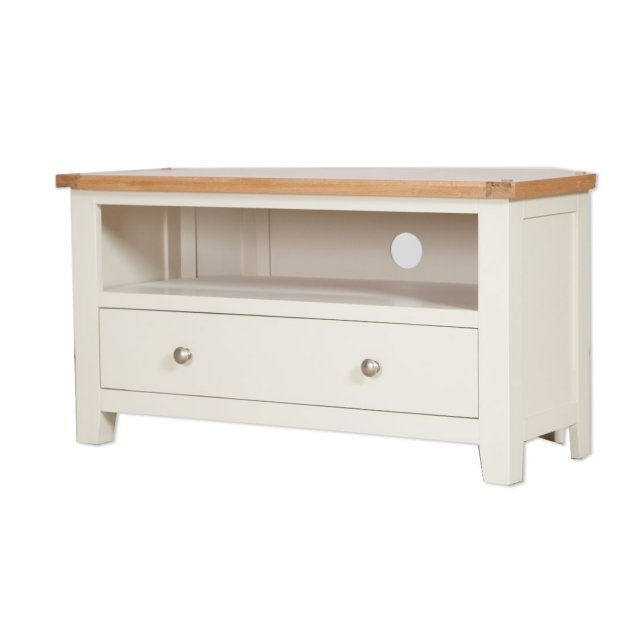 Preferred Compton Ivory Corner Tv Stands With Oak City – Sydney Painted Ivory 102cm Corner Tv Stand (View 8 of 25)