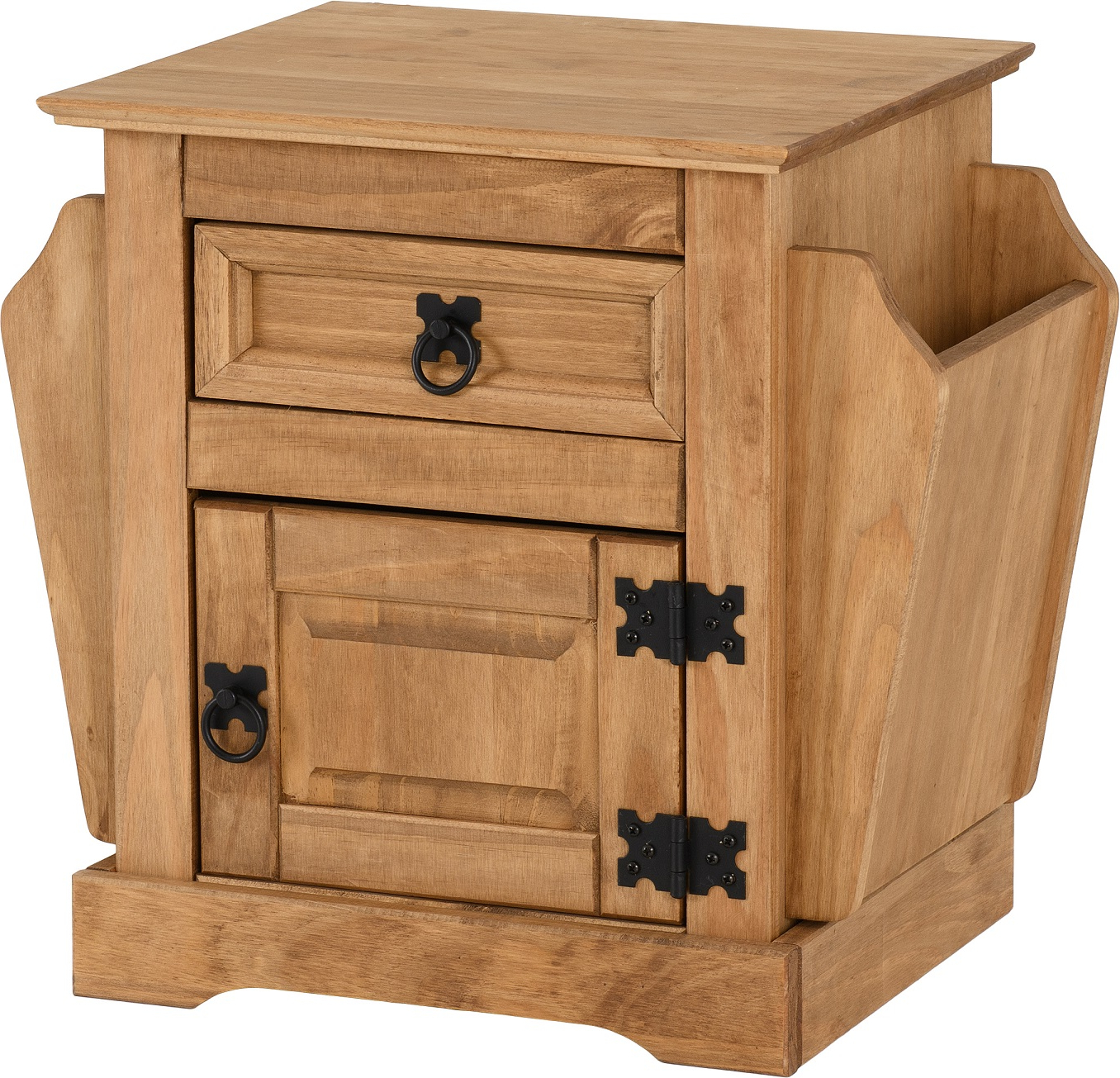 Preferred Corona Tv Stands Within Corona 1 Drawer Magazine Table In Distressed Waxed Pine (View 10 of 10)