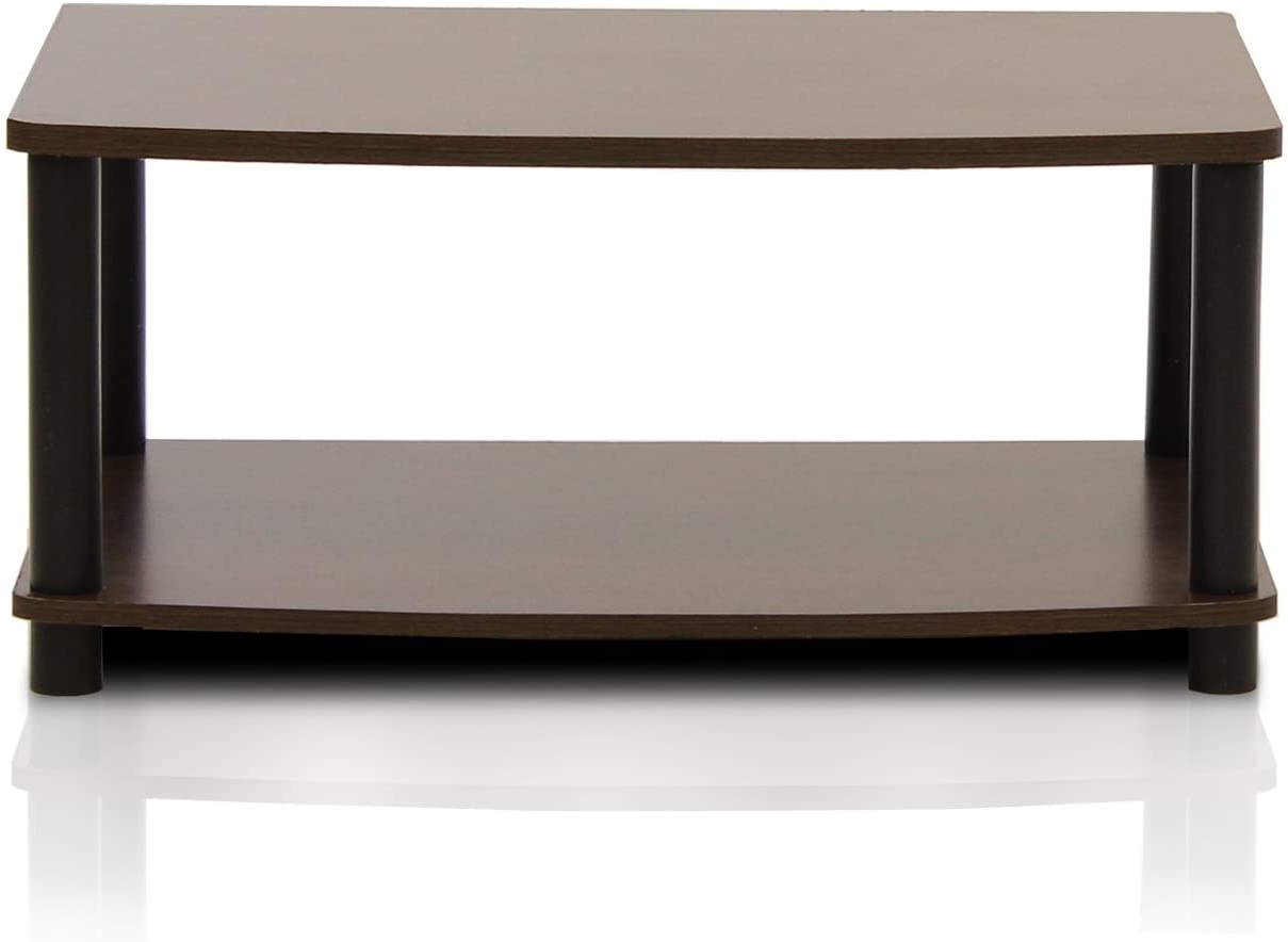 Preferred Furinno 2 Tier Elevated Tv Stands Regarding Amazon: Furinno Turn N Tube No Tools 2 Tier Elevated (View 3 of 10)