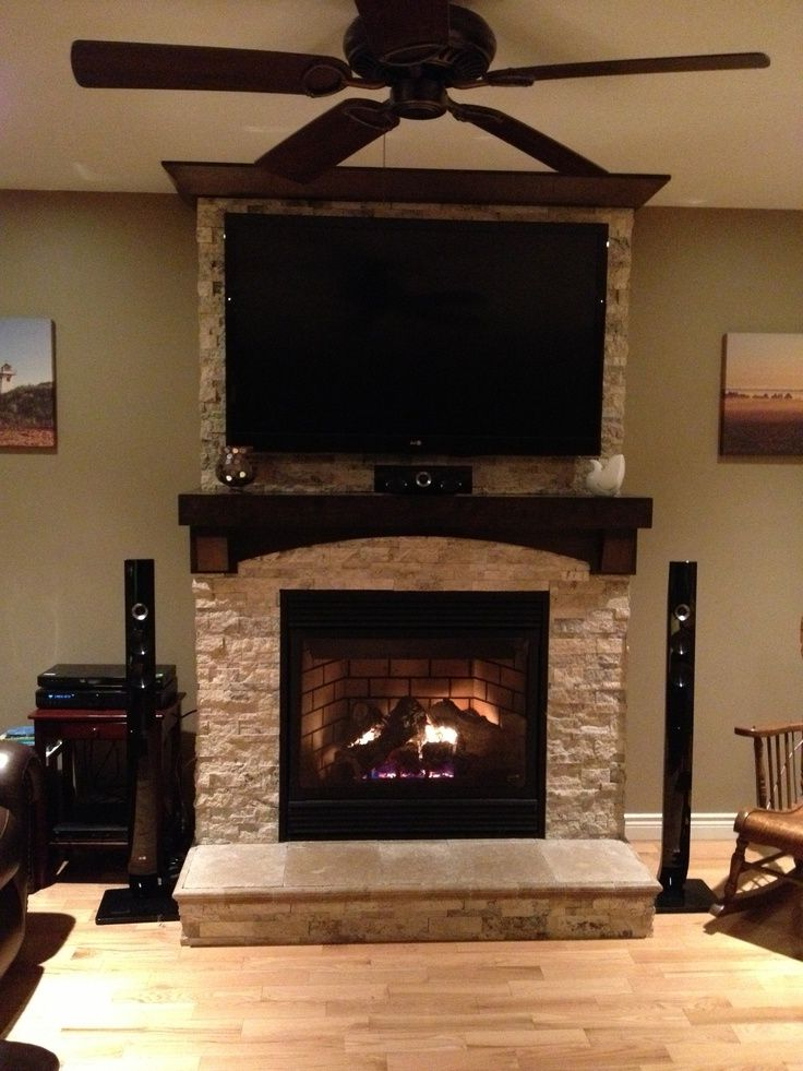 Preferred Jackson Corner Tv Stands Inside Tv On Stone Fireplace, Proportions Are Off But There Are (View 12 of 25)