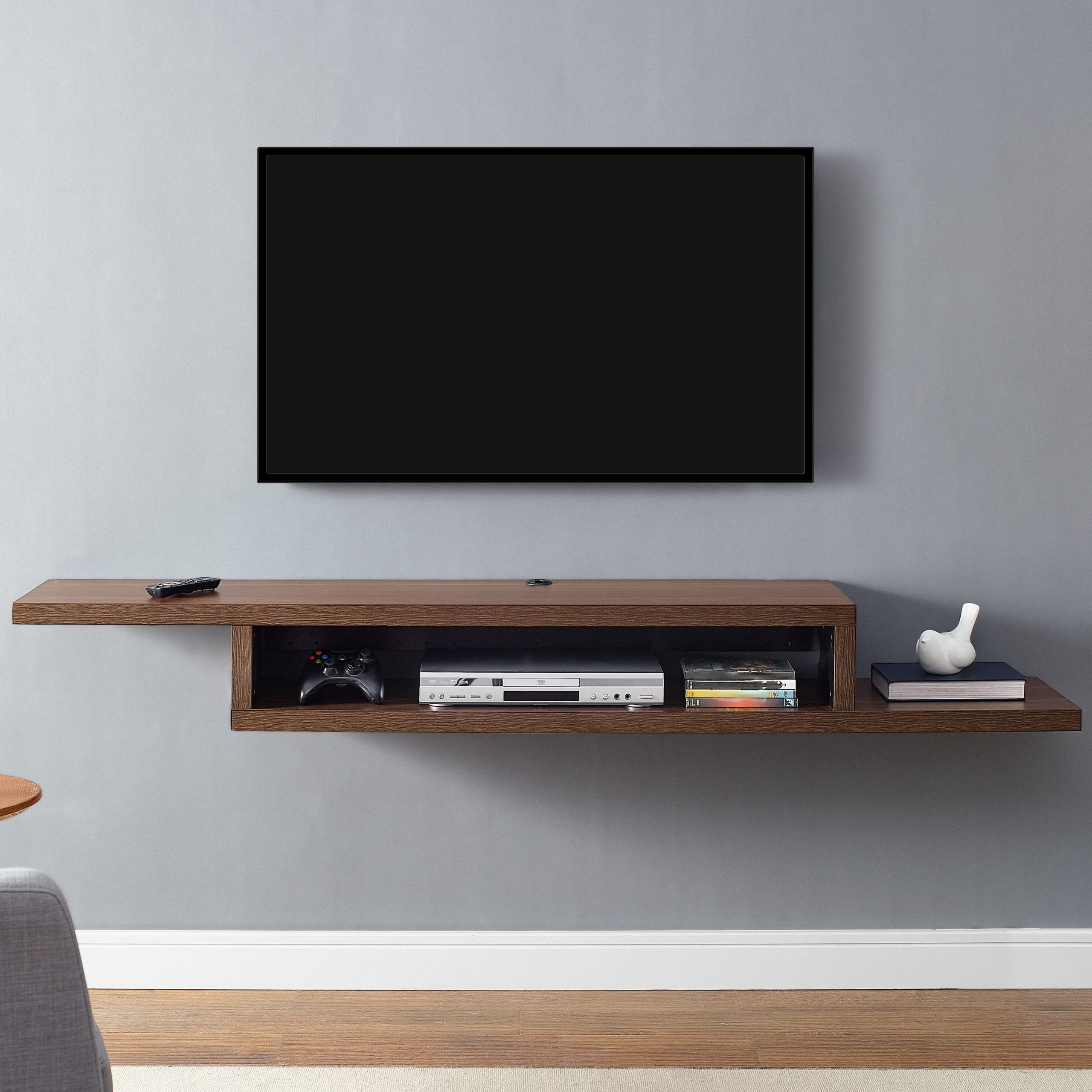 """Preferred Martin Home Furnishings Ascend 72"""" Asymmetrical Wall Pertaining To Floating Tv Shelf Wall Mounted Storage Shelf Modern Tv Stands (View 2 of 10)"""