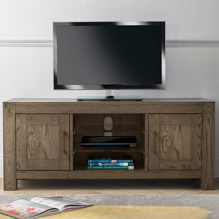 Preferred Milan Glass Tv Stands For Bentley Designs Milan Dark Oak Entertainment Unit For Tvs (View 4 of 10)