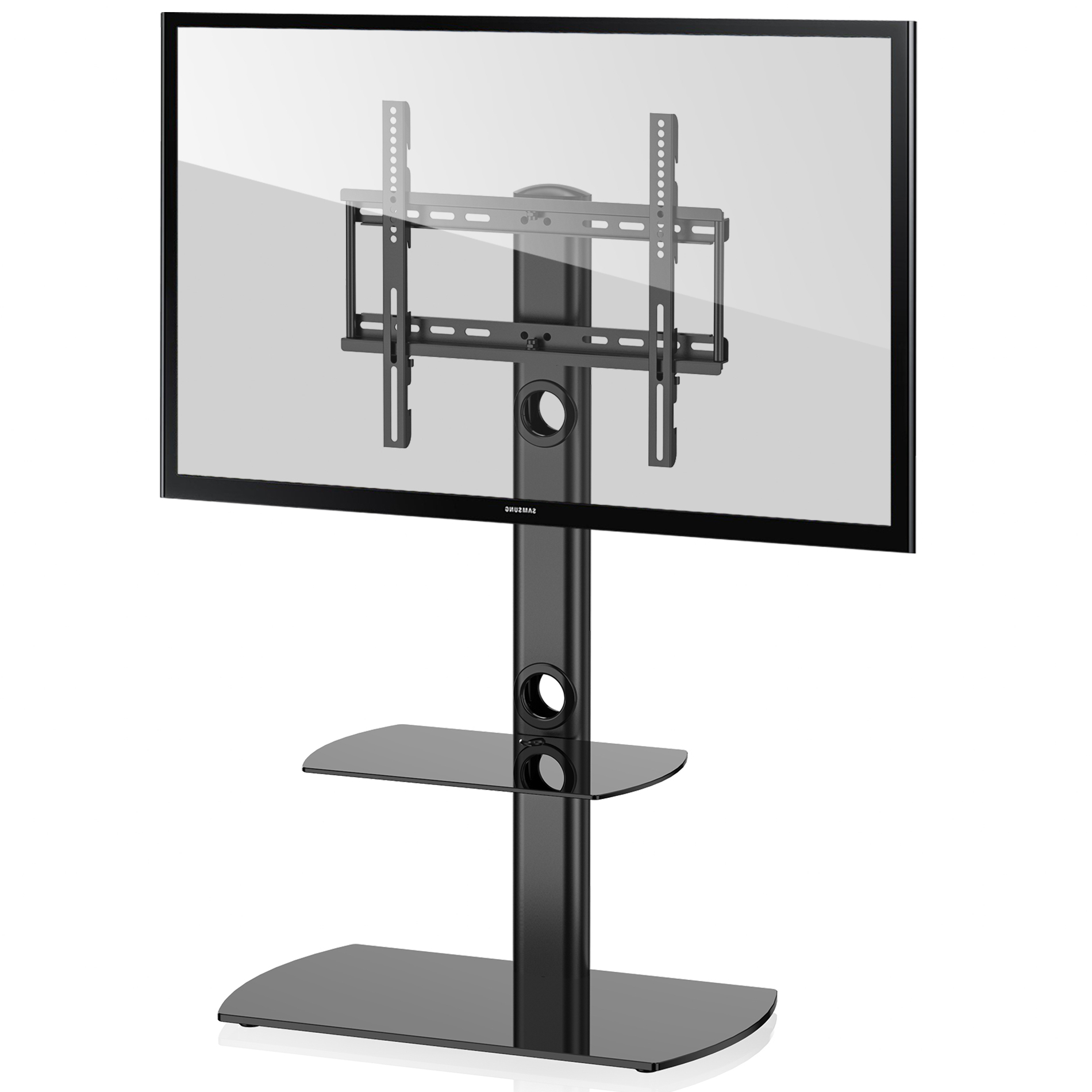 """Preferred Paulina Tv Stands For Tvs Up To 32"""" Throughout Fitueyes Universal Floor Tv Stand With Swivel Mount Height (View 4 of 25)"""