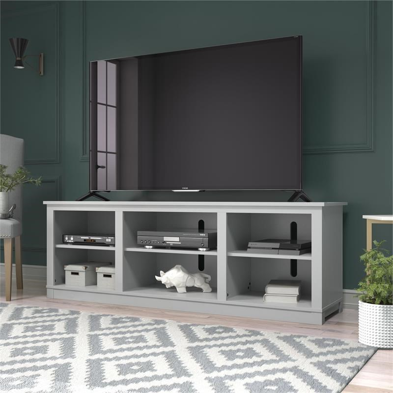 """Preferred Penelope Dove Grey Tv Stands In Ameriwood Home Edgewood Tv Stand For Tvs Up To 75"""" In Dove (View 2 of 10)"""