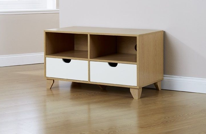 Preferred Scandi 2 Drawer Grey Tv Media Unit Stands For Pin On Tv Stands (View 7 of 10)