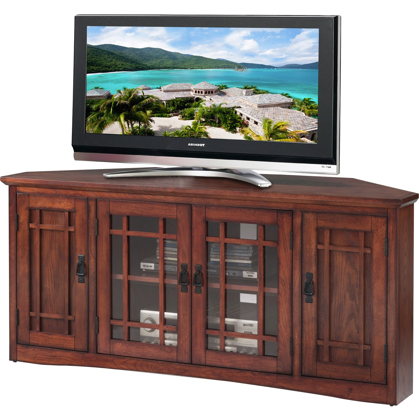 """Preferred Stamford Tv Stands For Tvs Up To 65"""" For Leick Home 56"""" Corner Tv Stand For Tv's Up To 60"""", Mission (View 13 of 25)"""
