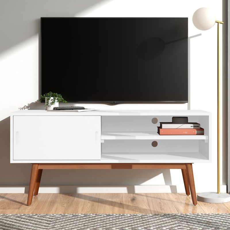 """Preferred Wilbur Solid Wood Tv Stand For Tvs Up To 50 Inches With Regard To Paulina Tv Stands For Tvs Up To 32"""" (View 25 of 25)"""