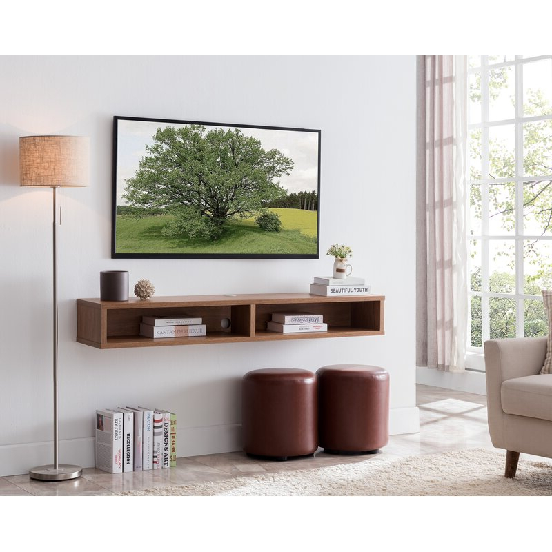 """Preferred Wrought Studio Keiper Solid Wood Floating Tv Stand For Tvs With Regard To Ezlynn Floating Tv Stands For Tvs Up To 75"""" (View 4 of 25)"""
