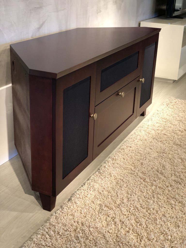 """Priya Corner Tv Stands Pertaining To Well Known Furnitech Ft61sccdc Shakers Corner Tv Stand Up To 65"""" Tv's (View 16 of 25)"""
