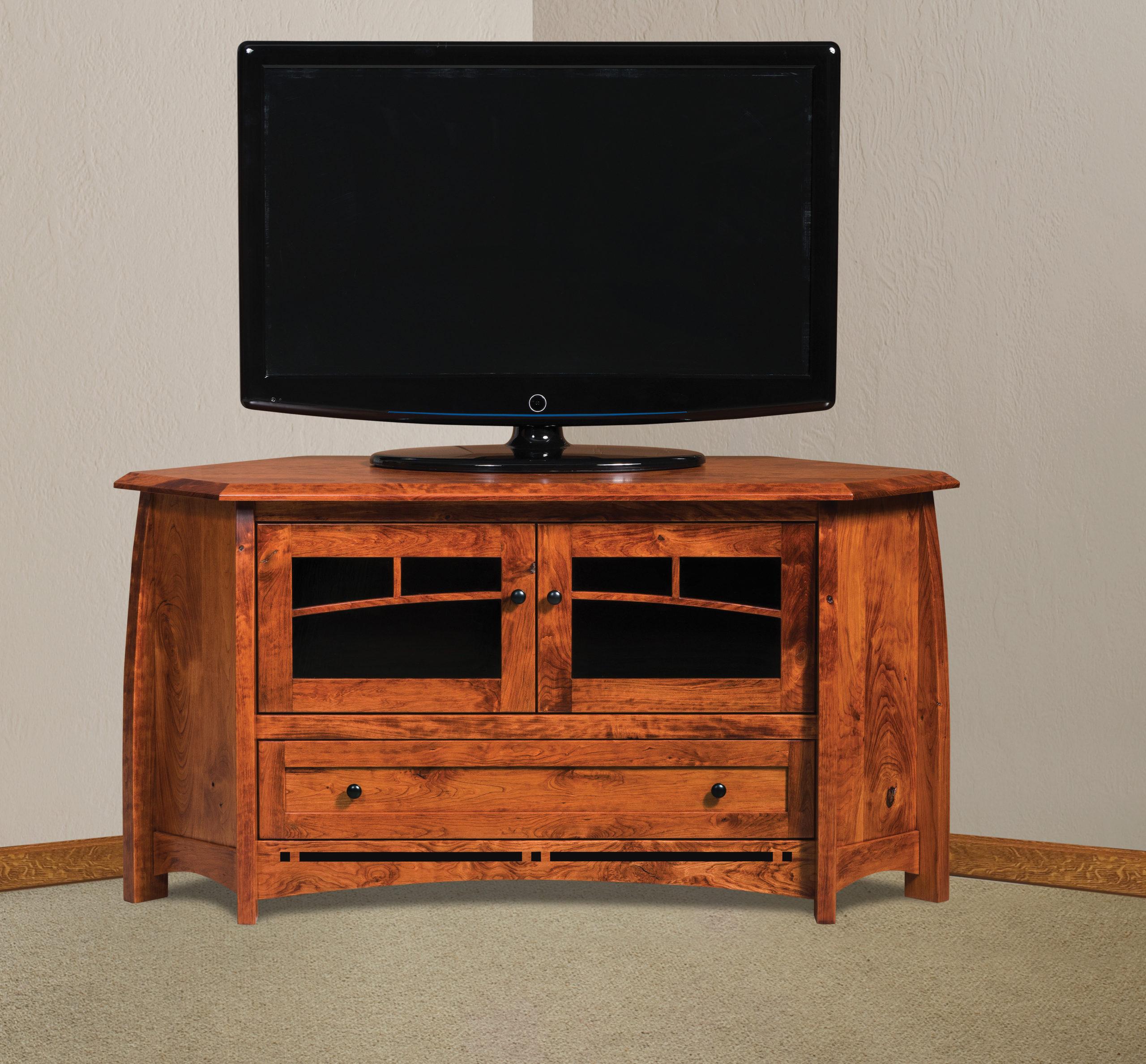 Priya Corner Tv Stands With Latest Boulder Creek Corner Tv Stand (View 1 of 25)