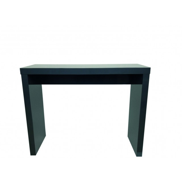 Puro White Tv Stands Within Well Known Puro High Gloss Charcoal Console Table (View 6 of 10)